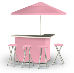 solid-pink-bar-umbrella-stools