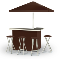 solid-dark-brown-bar-umbrella-stools