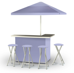 solid-lavender-bar-umbrella-stools