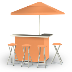 solid-peach-bar-umbrella-stools