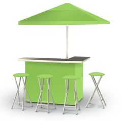 solid-lime-green-bar-umbrella-stools