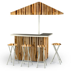 hawaiian-bamboo-bar-umbrella-stools