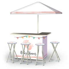 baby-shower-girl-bar-umbrella-stools