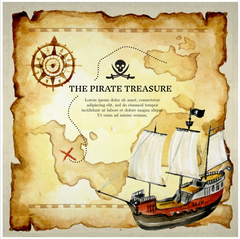 PIRATE - TREASURE MAP