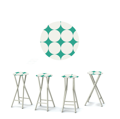 Diamonds & Dots - Teal/White - Large
