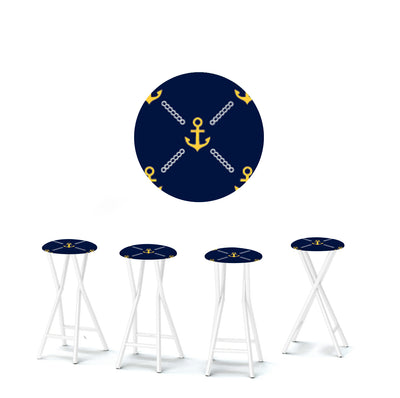Anchors Away Navy/Gold/White