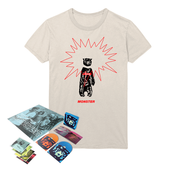 Monster 25th Anniversary Media + T-Shirt Bundle - R.E.M.