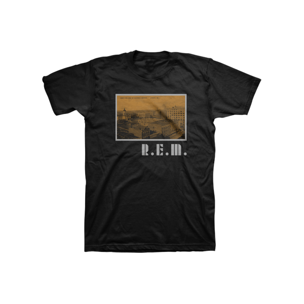 Athens Postcard Throwback Tee - R.E.M.