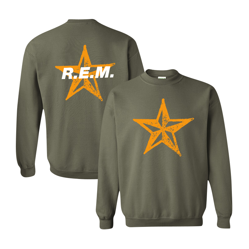Star Throwback Crewneck Sweatshirt - R.E.M.