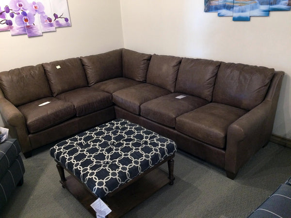 Leather Corner Couch (Basset Furniture)