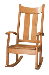 Aspen Rocking chair shown in 1/4 Sawn White Oak with Tea finish