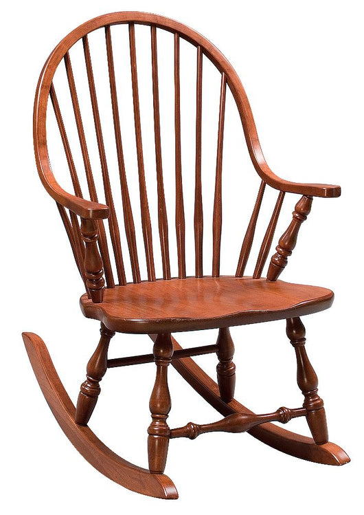 New England Windsor rocking chair shown in Cherry