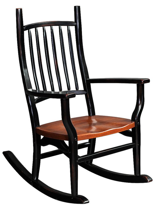 Country Squire rocking chair shown in Cherry with a 2-tone finish