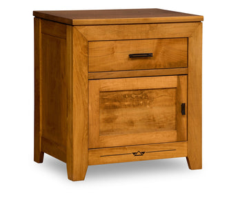 Addison nightstand 1 drawer, 1 door shown in Brown Maple and Malagania stain