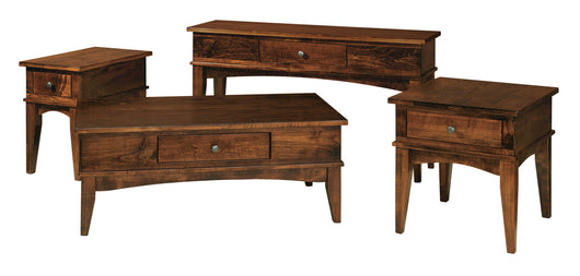 Amarillo occasional tables shown in Brown Maple/Asbury