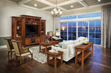 Artesa living room collection shown in Rustic Cherry/New Carrington