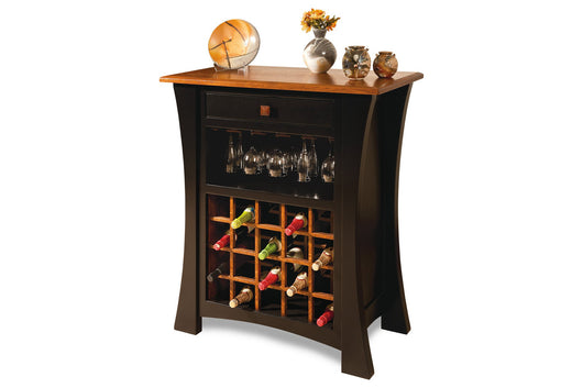 Arts & Crafts wine cabinet shown in 1/4 Sawn White Oak with a 2-tone finish