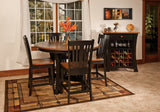 Arts & Crafts dining room collection shown in 1/4 Sawn White Oak with a 2-tone finish