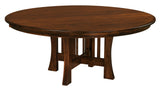 "Arts & Crafts 60"" round table shown in Brown Maple/Coffee"