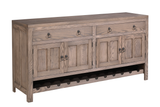 Arvada Buffet shown in Oak/Brushed Sandstorm with a low sheen finish