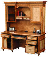 Bridgeport credenza with hutch shown open