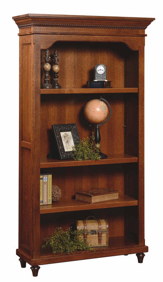 Bridgeport bookcase shown in 1/4 Sawn White Oak/Michaels