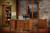Bridgeport office collection shown in 1/4 Sawn White Oak/Michaels