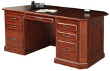 Buckingham executive desk shown in Cherry/Washington