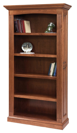 Buckingham bookcase shown in Cherry/Washington