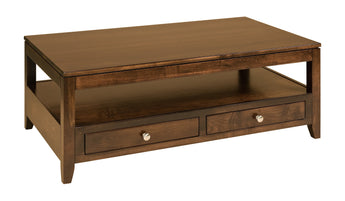 Camden coffee table shown in Brown Maple/Kona