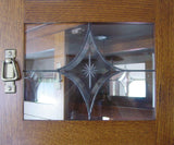 Leaded glass star design in Cape Cod Corner Hutch