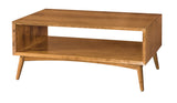 Century Open coffee table shown in Cherry/Tawny