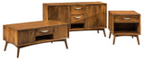 Century coffee table, end table, sofa table shown in Brown Maple/Chocolate Spice