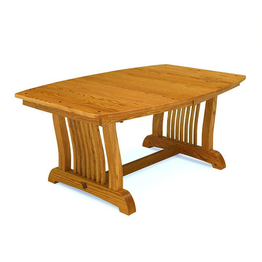 Royal Mission Trestle table shown in Oak/Golden Honey