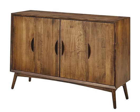 Copenhagen leaf storage cabinet shown in Brown Maple/Chocolate Spice