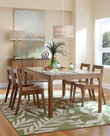 Copenhagen dining room collection shown in Brown Maple/Chocolate Spice