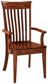 Beckley arm chair shown in Oak/Michaels