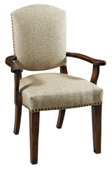 Collinsville arm chair shown in Wormy Maple/Worn Auburn with 28-24 Barstone fabric