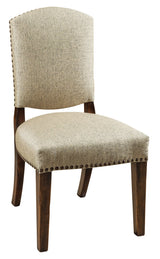 Collinsville side chair shown in Wormy Maple/Worn Auburn with 28-24 Barstone fabric