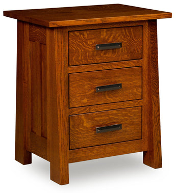 Freemont Mission nightstand shown in 1/4 Sawn White Oak/Michaels