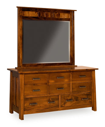 Freemont Mission dresser shown in Brown Maple/Asbury