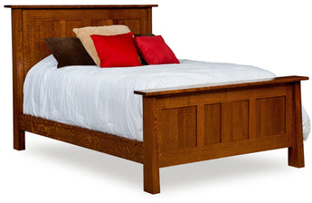 Freemont Mission Panel bed shown in 1/4 Sawn White Oak/Michaels