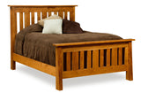Freemont Mission Slat bed shown in Rustic Cherry/Chestnut