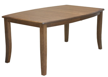 Gallery leg table shown in Brown Maple/Chocolate Spice