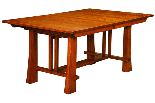 Grant Trestle table shown in 1/4 Sawn White Oak/Michaels