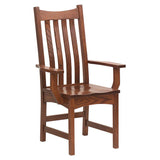 Bellingham arm chair shown in Oak/Old World Mission