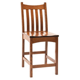 Bellingham bar chair shown in Oak/Old World Mission