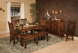 Heidi dining room collection shown in Brown Maple/Asbury