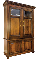 Imperial Wine Cabinet shown closed.  Made from Brown Maple and finished in Nutmeg.