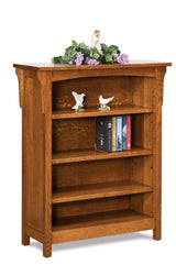 "Bridger Mission 48"" high bookcase shown in 1/4 Sawn White Oak/Michaels"